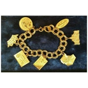 RARE Vintage 60s Fashion Two Twenty Charm Bracelet